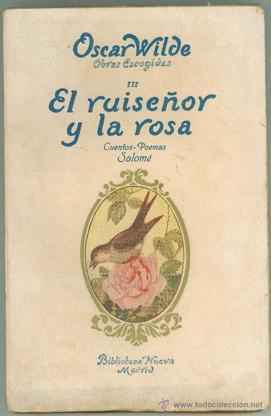 """Portada del Libro """"El ruiseñor y la rosa"""""""